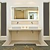 Limestone Chiltern Stone washstand with wall panel and floor tiles