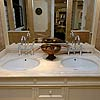 Travertino Romano Classico washstand counter top, primed.