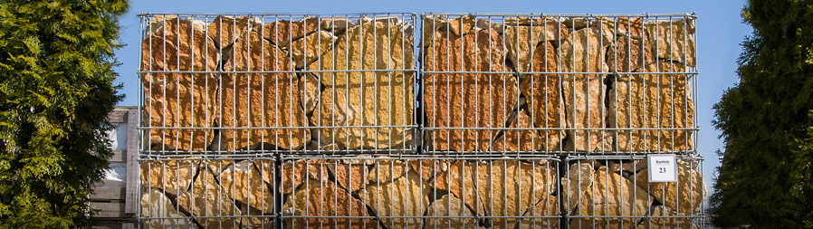 Gabions of natural stone